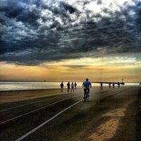 Photo taken at Oak Street Beach by Meagan B. on 7/22/2012