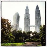 Photo taken at Kuala Lumpur City Centre (KLCC) Park by Naoki T. on 8/12/2012