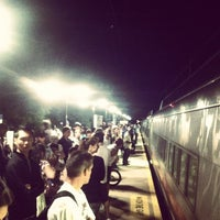 Photo taken at Metro North - East Norwalk Train Station by Dylan O. on 8/26/2012