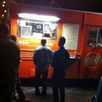 Photo taken at Rounds Premium Burgers Truck by ~A P. on 1/22/2012