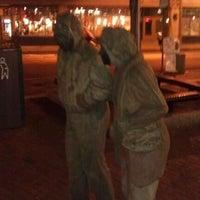 Photo taken at Davis Square by Jake S. on 9/11/2011