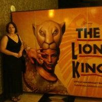 Photo taken at THE LION KING in Las Vegas by Wayne S. on 10/9/2011