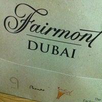 Photo taken at Fairmont Dubai by Vian M. on 7/12/2012