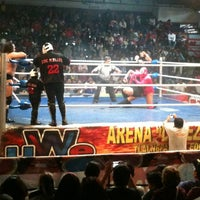 Photo taken at Arena Adolfo Lopez Mateos by Karen B. on 7/15/2012
