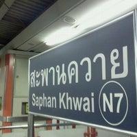 Photo taken at BTS Saphan Khwai (N7) by Jack W. on 10/22/2011