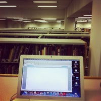 Photo taken at Carrier Library by Nedjla A. on 12/9/2011