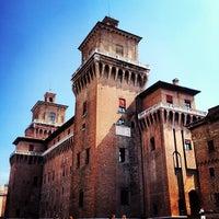 Photo taken at Castello Estense by Riccardo B. on 4/28/2012