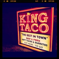 Photo taken at King Taco Restaurant by Chris G. on 8/13/2012