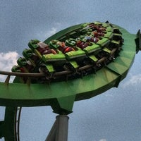 Photo taken at The Incredible Hulk Coaster by Jeremy on 6/29/2012