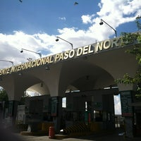 Photo taken at Puente Internacional Santa Fe (Paso Del Norte) by Mauricio M. on 8/25/2012