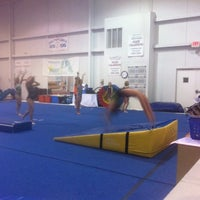 Photo taken at Gymquarters Gymnastics Center by LB P. on 3/22/2012
