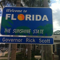 Photo taken at Florida / Georgia State Line by Zach M. on 3/2/2012