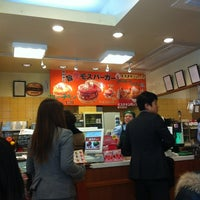 Photo taken at モスバーガー 靱本町店 by Pinky S. on 4/4/2012