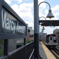 Photo taken at MTA Subway - Marcy Ave (J/M/Z) by Thomas C. on 8/11/2011