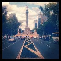 Photo taken at Av. Paseo de la Reforma by Carlos L. on 9/9/2012