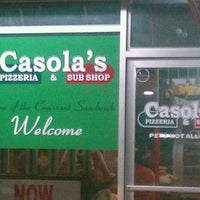 Photo taken at Casola's Pizzeria and Sub Shop by Pablo G. on 1/30/2012