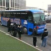 Photo taken at Megabus Bus Stop by Dmitriy G. on 1/25/2011