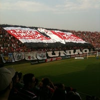 Photo taken at Estádio Arena Joinville by Felipe Arthur W. on 9/8/2012