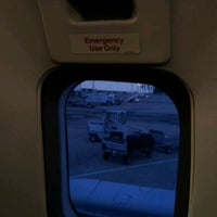 Photo taken at On An Airplane by Mike R. on 3/9/2012