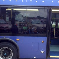 Photo taken at Bus Stop 1160 - Highland Mall Transfer Center by Carlos U. on 5/30/2012