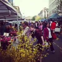 Photo taken at Penn Quarter FRESHFARM Market by Tammy G. on 4/5/2012