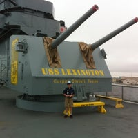 Photo taken at USS Lexington Museum On The Bay by Kyle H. on 3/10/2012