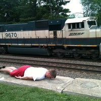 Photo taken at Rochelle Railroad Park by Chris B. on 6/26/2011