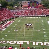 Photo taken at Sanford Stadium by Amanda F. on 9/17/2011