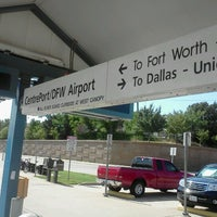 Photo taken at CentrePort / DFW Airport Station (TRE, DART bus, The T) by Spencer K. on 7/31/2012