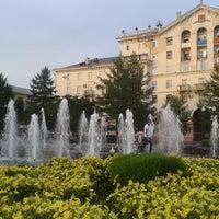 Photo taken at Сквер им. Дзержинского by Evgeniy S. on 8/15/2012