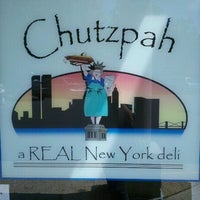 Photo taken at Chutzpah Real New York Deli by Clem S. on 5/24/2012