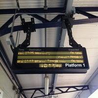 Photo taken at Warminster Railway Station (WMN) by Eugenia E. on 5/26/2012