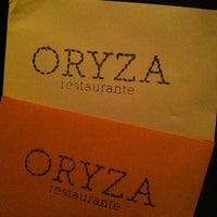 Photo taken at ORYZA Restaurante by ✨Aninha A. on 4/16/2011