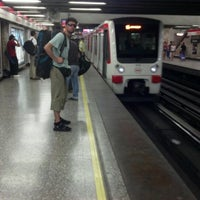 Photo taken at Metro Baquedano by Rodrigo b. on 1/27/2012