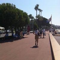 Photo taken at Boulevard de La Croisette by Mashael K. on 7/16/2011