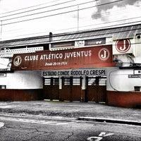 Photo taken at Estádio Conde Rodolfo Crespi by Luiz H. on 1/29/2012