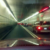 Photo taken at Holland Tunnel Toll Plaza by Bradley O. on 4/11/2012