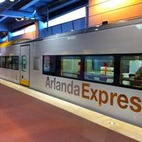 Photo taken at Arlanda Express (Stockholm C) by David G. on 8/27/2012