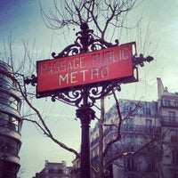 Photo taken at Métro Madeleine [8,12,14] by Will N. on 3/14/2012