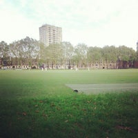 Photo taken at Vincent Square Playing Fields by Arne H. on 6/20/2012