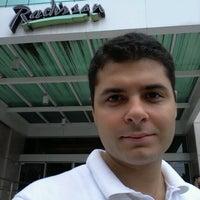 Photo taken at Radisson Hotel Vitória by Bernardo M. on 5/1/2012