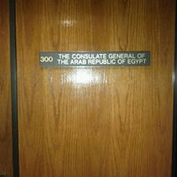 Photo taken at Consulate General Of The Arab Republic Of Egypt by Shinnawy on 12/11/2011