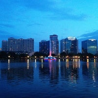Photo taken at Lake Eola Park by Bryan N. on 7/5/2012
