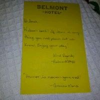 Photo taken at Belmont Hotel by sarah m. on 3/30/2012