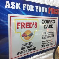 Photo taken at Fred's Old Fashioned Burgers by Mike M. on 2/10/2012