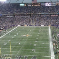 Photo taken at Hubert H. Humphrey Metrodome by Chelsea F. on 12/18/2011