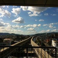 Photo taken at Osaka Monorail Hotarugaike Station by Yasuo M. on 8/2/2012
