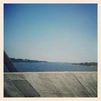 Photo taken at Pearl Harbor Memorial Bridge by Liz on 6/11/2012