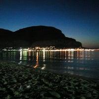 Photo taken at Spiaggia di Mondello by Eleonora M. on 6/2/2012