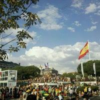 Photo taken at Plaza de Colón by Javi R. on 8/18/2011